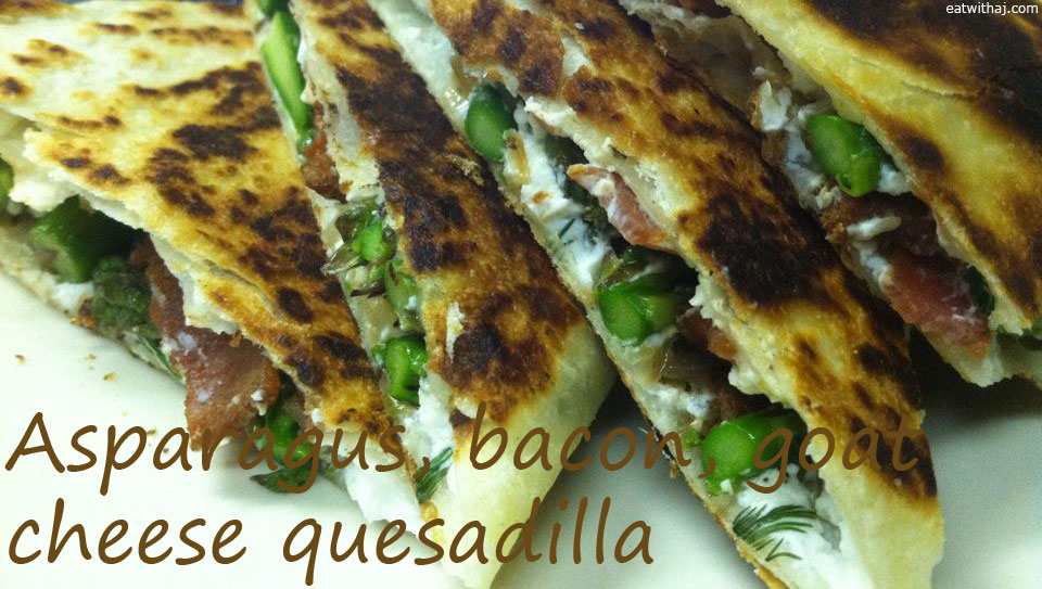 This quesadilla does not attempt to be Mexican food. But its ...