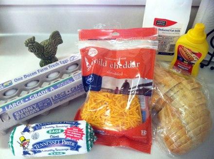Breakfast Casserole Ingredients | EatWithAJ.com