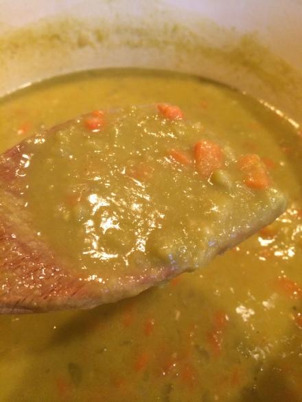 Split pea soup | EatWithAJ.com